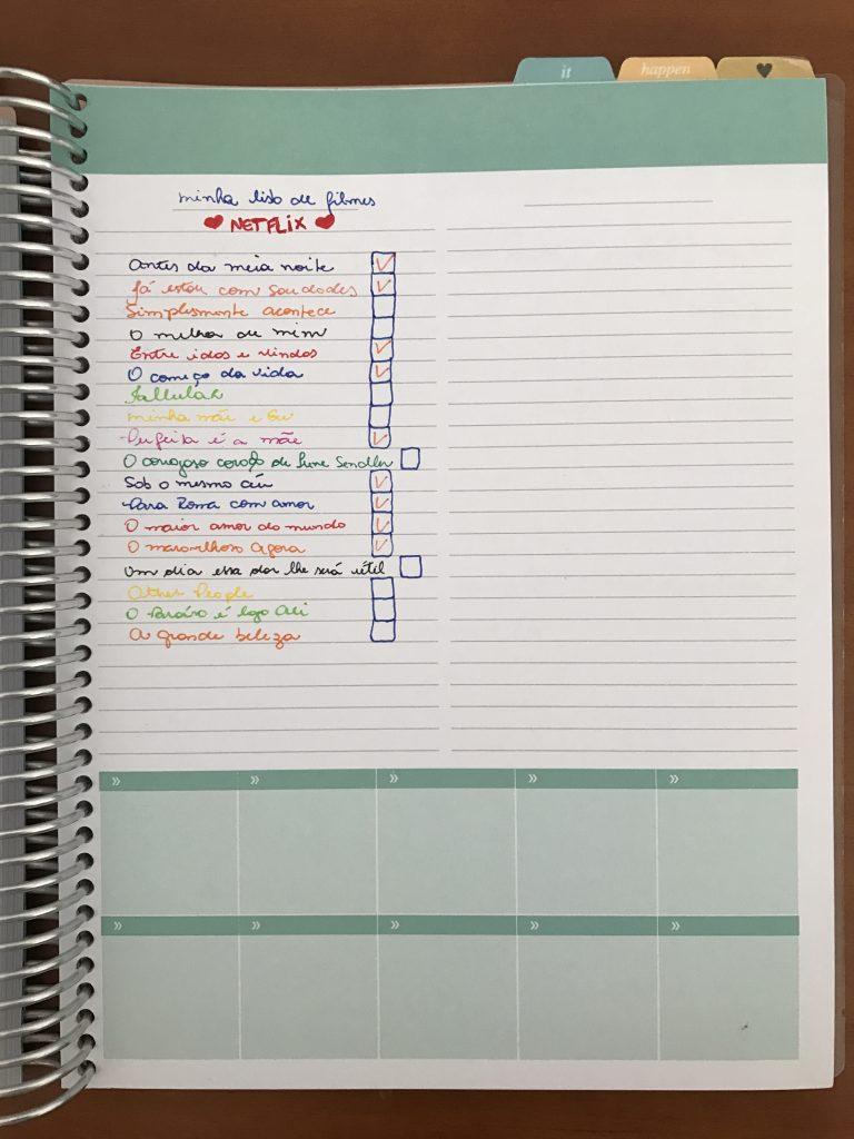 vida organizada com planner