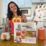 Sorvete de frutas preparado no Processador de Alimentos para Bebês da Hamilton Beach