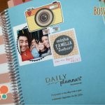 Planner decorado com scrapbook