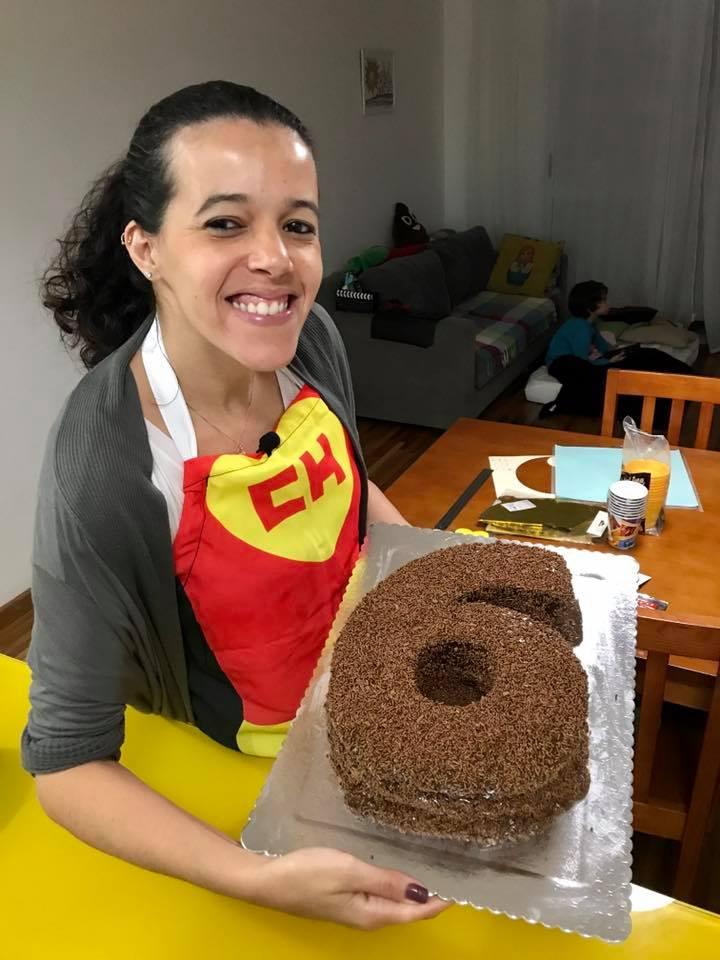 bolo de aniversário em formato de número