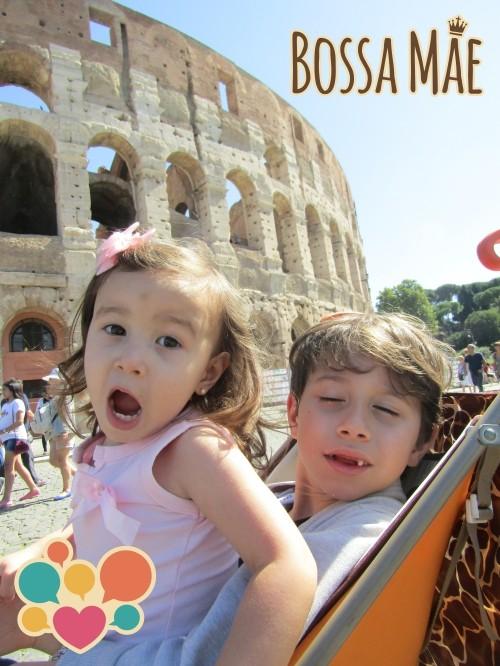 Roma com crianças é amor