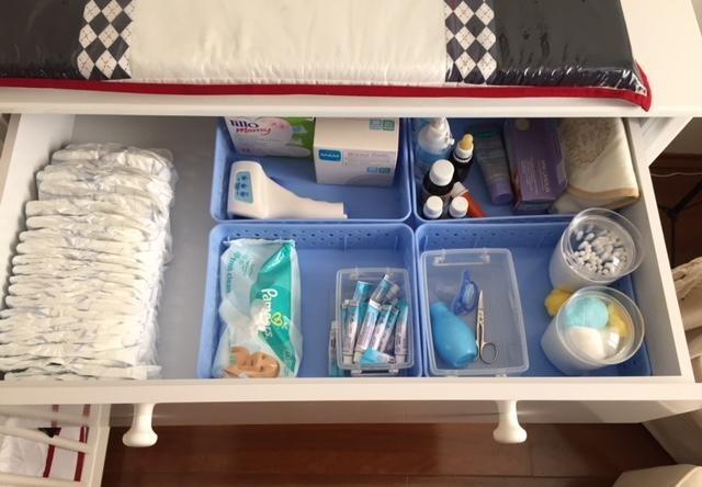 organizar roupas do bebê